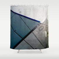 aviation Shower Curtains featuring Aviation by Paper Possible