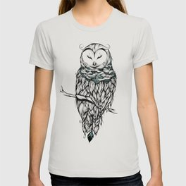 Poetic Snow Owl T-shirt