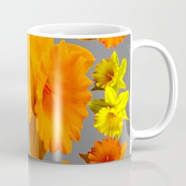 YELLOW-GOLD SPRING DAFFODILS & CHARCOAL GREY COLOR Coffee Mug