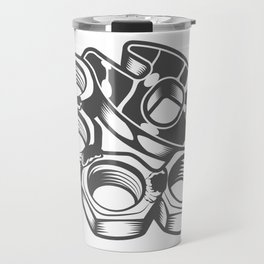 "Fashion Modern Design Print ""Brass Knuckles""! Rap, Hip Hop, Rock style and more Travel Mug"