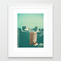 portland Framed Art Prints featuring portland by Mike Hanes
