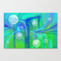 bubbles Canvas Prints featuring Bubbles by Roger Wedegis
