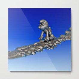 Silver Smurfer Metal Print