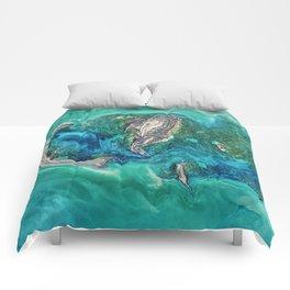 Ice Scours the North Caspian Sea Comforters