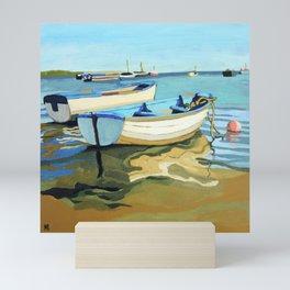 The Blue Boats Mini Art Print