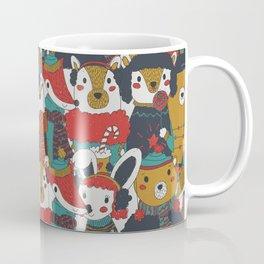 Funky Retro Christmas Animals Coffee Mug