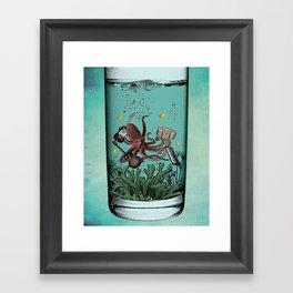 Musical Octopus Print Framed Art Print