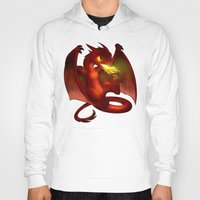smaug Hoodies featuring The Hobbit- Chibi Smaug by prpldragon