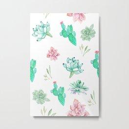 Cactus and succulents Metal Print
