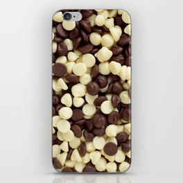 Dark and white chocolate chips iPhone Skin