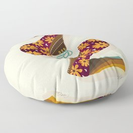 Disco Platforms – Fuchsia & Orange Floor Pillow