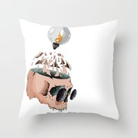 imagine Throw Pillows featuring Imagine by PAFF