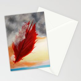 A RED FEATHER BLOWS NORTH Stationery Cards