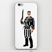 terminator iPhone & iPod Skins featuring The Terminator by Ayse Deniz