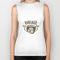 sports Biker Tanks featuring Vintage sports by Tshirt-Factory