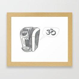 Coffee Om Framed Art Print