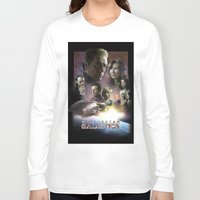 battlestar Long Sleeve T-shirts featuring BATTLESTAR GALACTICA POSTER by tanman1