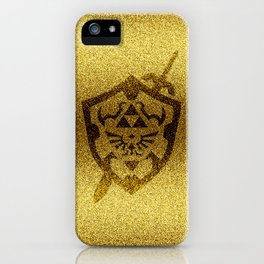 zelda shield gold iPhone Case