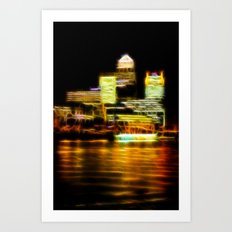 Canada Square Canary Wharf Art Print
