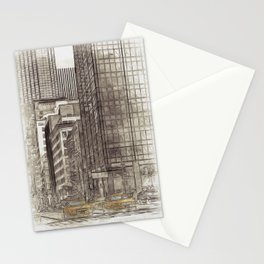 NYC Yellow Cabs NYPD - SKETCH Stationery Cards