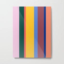 Mod Stripes Metal Print