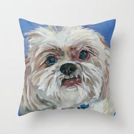 Ruby the Shih Tzu Dog Portrait Throw Pillow