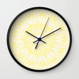 Lemon Yellow Kaleidoscope Wall Clock