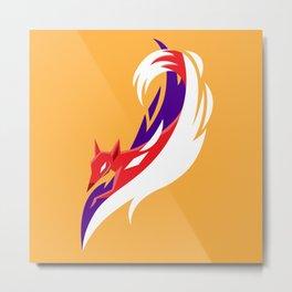 Here comes the fox Metal Print