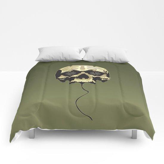 Balloon skull Comforters