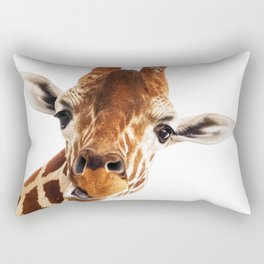 Giraffe Portrait // Wild Animal Cute Zoo Safari Madagascar Wildlife Nursery Decor Ideas Rectangular Pillow