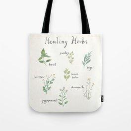 Healing Herbs Tote Bag