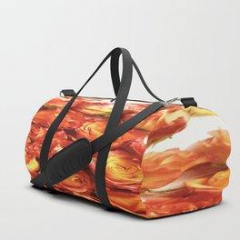 Cluster Of Orange Roses Duffle Bag