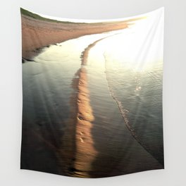 Last Rays of Sun on the Beach Wall Tapestry