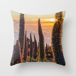 La Palma sunset Throw Pillow