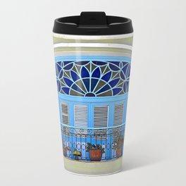 Balcony with Flowerpots  Travel Mug