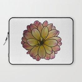 Yellow & Pink Dahlia Laptop Sleeve