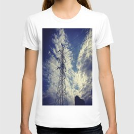 Heavenly spring sky in an industrial world T-shirt