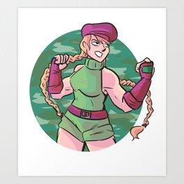 cammy (street fighter) Art Print