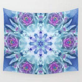Royal Blue and Purple Mandala Wall Tapestry