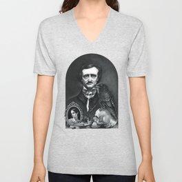 Edgar Allan Poe Portrait Unisex V-Neck