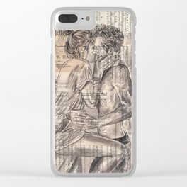 Morning Kiss Clear iPhone Case