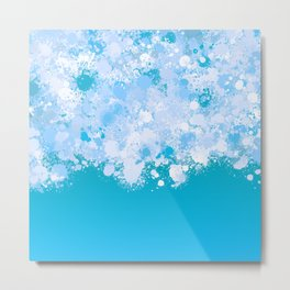 paint splatter on gradient pattern ori Metal Print