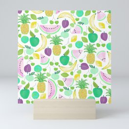 Fruit Punch Retro 2 Mini Art Print