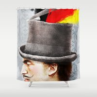 german Shower Curtains featuring German by Francesca Cosanti