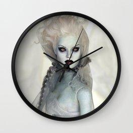 Alabaster Ghost Bride Wall Clock