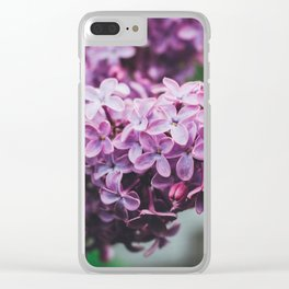 Spring Lilac Clear iPhone Case