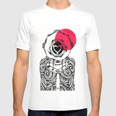 Yakuza Diver from Japan Mens Fitted Tee White MEDIUM