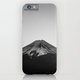 Mount Fuji Volcano in Grayscale iPhone Case