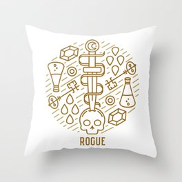 Rogue Emblem Throw Pillow