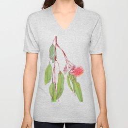Flowering Silver Princess Eucalyptus Watercolour Unisex V-Neck